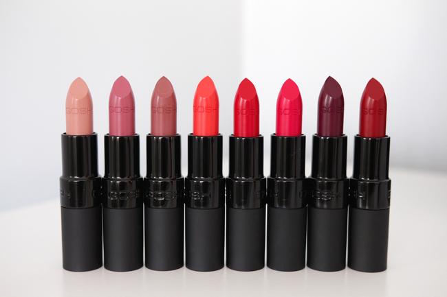 GOSH Velvet Touch Matt lipstick review & swatches
